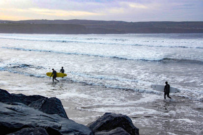 Surfers After Surfing At Lahinch December 2012 413x275