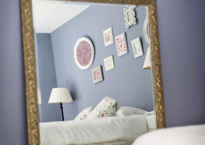 Blue Bedroom Mirror 400x284